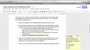 using google docs for collaborative work youtube With how to work google documents