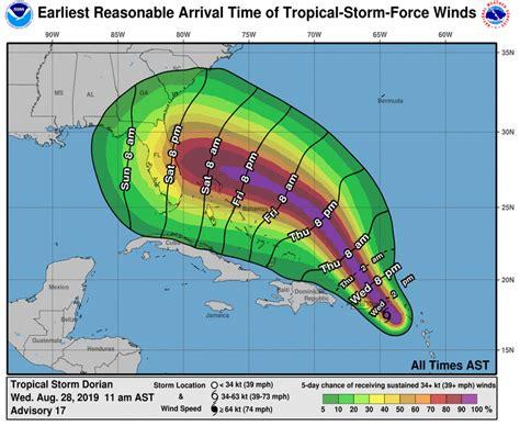 hurricane dorian forms   forecast   category