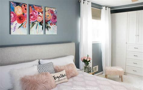 modern glam master bedroom reveal beauteeful living