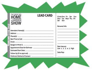 show develop  effective lead card exhibitalk