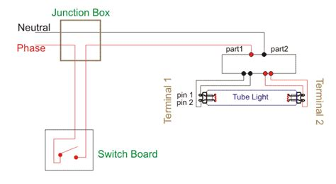 Wiring Diagram For Single Tube Light Circuit Lekule Blog