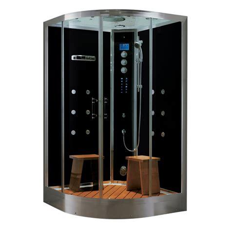 shower kit northeastern bath black tempered glass wall floor 10