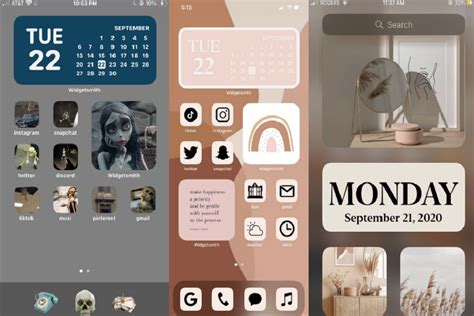 aesthetic home screen ios   iphone