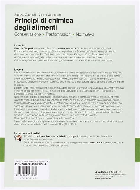 la chimica degli alimenti chimica degli alimenti vannucchi pdf