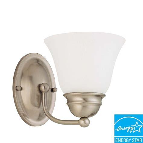 nickel sconces bathroom lighting the home depot