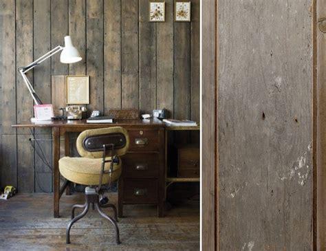 fauteuil de bureau cuir et bois papiers peints de marques inspiration décoration