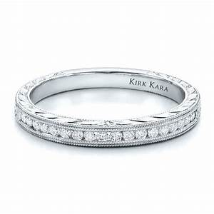channel set diamond band with matching engagement ring With matching diamond wedding rings