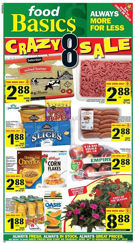 basics of cuisine april 2015 food basics flyer