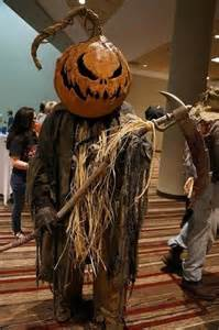 Scary Scarecrow Pumpkin Head Costumes