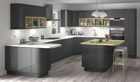 cuisine ikea ringhult lucido senza handleless style kitchen in graphite