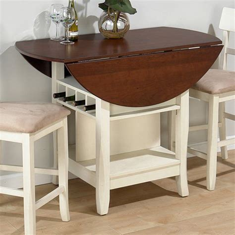 small bar height table jofran counter height table in white cherry get with 4