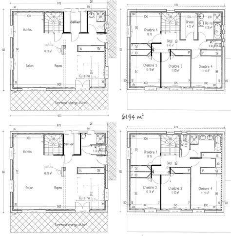 plan maison 4 chambres etage amazing duaccord avec la remarque duelisa pour voir bouger