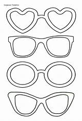 Sunglasses Coloring Pages Printable Getcolorings Summer sketch template