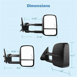 Power Heated Led Signals Tow Mirrors For 03