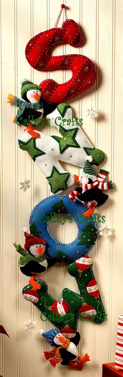 s n o w bucilla felt christmas wall hanging kit 86112
