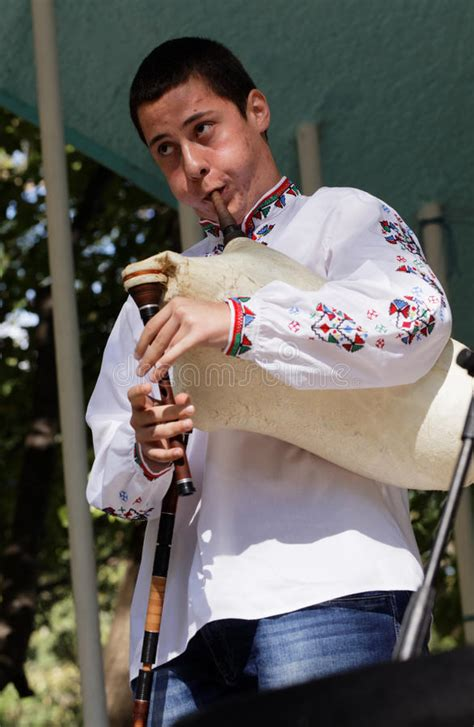 Man Playing Gaida, The Bulgarian Bagpipe Editorial Photo ...