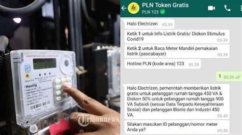 akses wwwplncoid gratis token listrik pln bulan