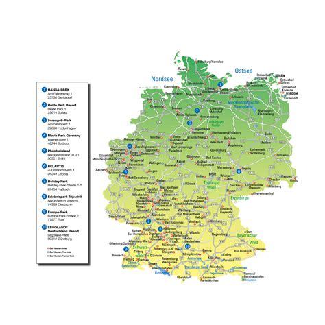 Freizeitparks Deutschland Karte
