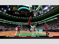 LeBron James NASTY Dunk On Jason Terry Celtics vs Heat 3