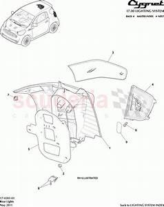 Aston Martin Cygnet Rear Lights Parts
