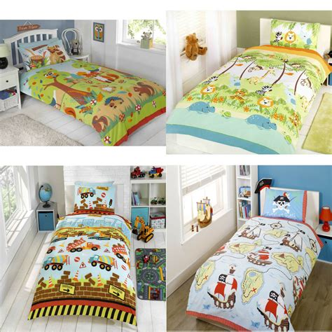 Boy Bedding by Childrens Duvet Quilt Cover Bedding Set And