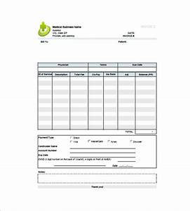 Medical invoice template 12 free word excel pdf for Medical billing invoice template free