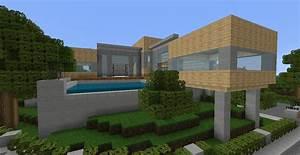 Belle Maison Moderne : cuisine maison moderne dansminecraft chaios belle petite maison moderne minecraft comment ~ Melissatoandfro.com Idées de Décoration