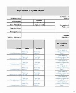 high school report card template issue print homeschool in With high school report card template word