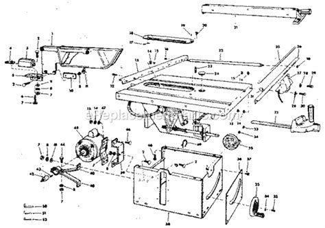 craftsman 10 table saw parts craftsman 113241680 parts list and diagram