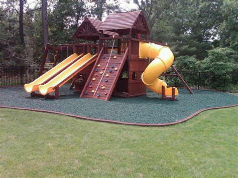 Kids Backyard Playground Rubber Mulch  Design Idea And