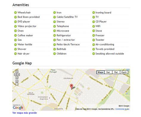list of amenities vacation rental website sles baires lodge kigo