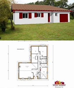 plan de maison mitoyenne plain pied With plan de maison mitoyenne