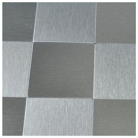 brush silver metal tiles 10 pcs peel n stick backsplashes