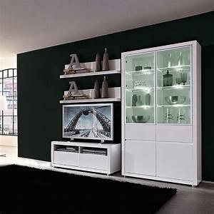 Weißer Hochglanz Schrank : wohnwand lino ii 4 teilig inklusive beleuchtung hochglanz wei mit wei er beleuchtung ~ Indierocktalk.com Haus und Dekorationen