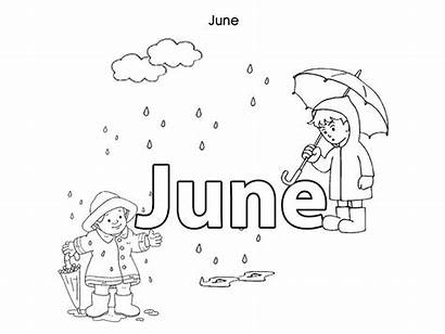 Coloring June Pages Months Month Printable Colouring