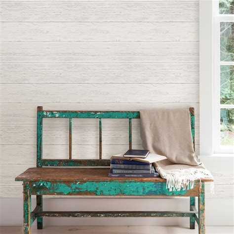 wallpops shiplap reclaimed wood peel  stick wallpaper