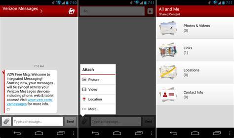 verizon updates messages app  version  syncs text