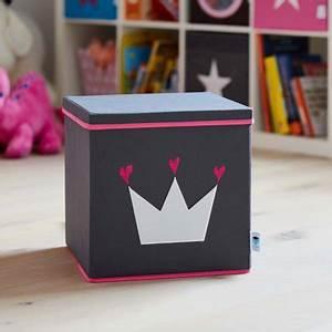Aufbewahrungsboxen Kinderzimmer Design : store t aufbewahrungsbox mit deckel krone grau pink online kaufen online shop ~ Whattoseeinmadrid.com Haus und Dekorationen