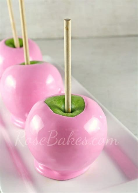 Caramel Pink Apples by How To Make Soft Pink Cotton Apples Bakes