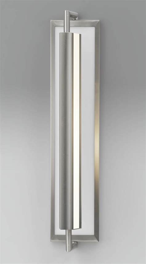 feiss two light brushed steel wall light brushed steel
