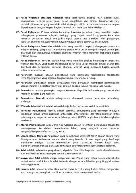Rencana Tata Ruang Pulau Papua