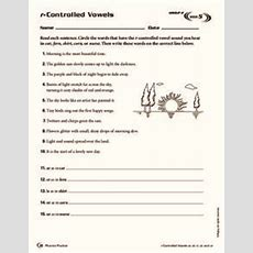 Rcontrolled Vowels Worksheet For 3rd  4th Grade  Lesson Planet