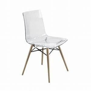 Chaise Transparente Pied Bois : chaise design pieds bois x treme wox et chaises bois design par papatya ~ Teatrodelosmanantiales.com Idées de Décoration