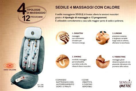 Imetec Cuscino Massaggiante Sedile Massaggiante Con Calore Imetec Sensuji Sm3 200