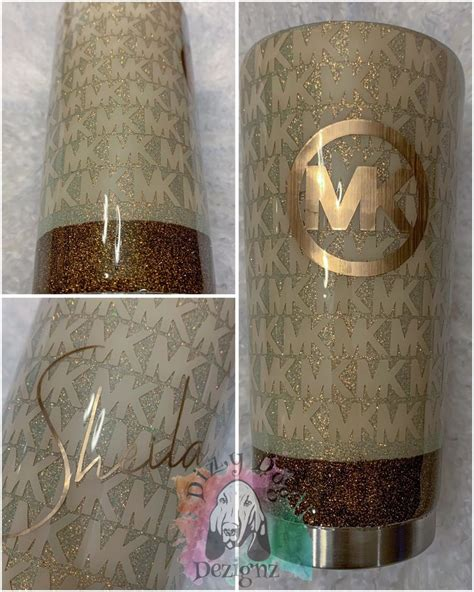 custom oz straight michael kors glitter tumbler