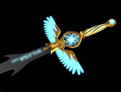Sword Angel 3d Version Poly Low Melee