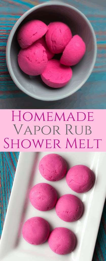 homemade vapor rub shower melts easy diy vicks shower bombs