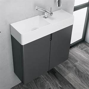 Waschtisch Komplett Mit Unterschrank : cosmic fancy waschtisch mit unterschrank mit 2 t ren wei ~ Watch28wear.com Haus und Dekorationen