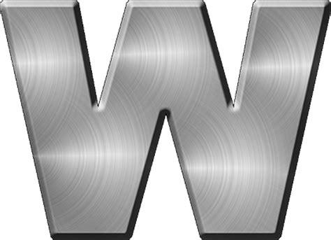 presentation alphabets brushed metal letter a presentation alphabets brushed metal letter w 31331