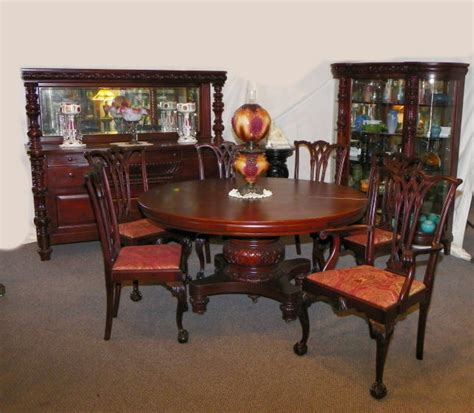 pc matching antique mahogany dining room set table